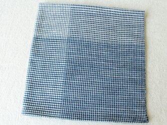 手織り・藍染め 包む布、おおう布Aの画像