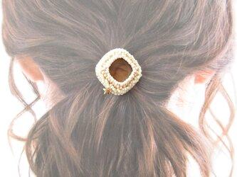 Hair Accessory ポニーフック ビーズ刺繍(K1015)の画像