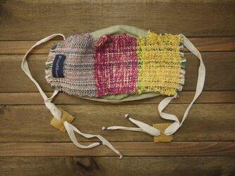 手織り ダブルガーゼ ファッションマスクの画像