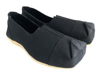 SQUARE slip-on shoes #倉敷帆布 #受注製作の画像
