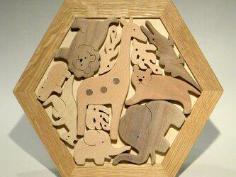 木のパズル どうぶつたち B いろんな木を集めての画像