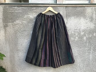 縞のスカート ●79センチ丈●の画像