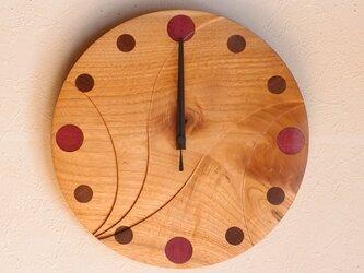 無垢の木の電波掛け時計 くるみ 0017の画像