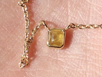 Natural Yellow Diamond Necklace / K18YGの画像