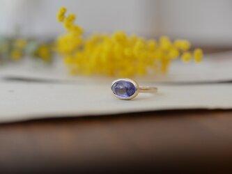 花香 タンザナイトのリング [K10]の画像