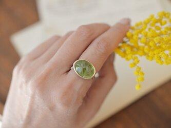 花香 ペリドットのリング [K10]の画像
