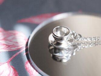 ティーカップ & ソーサー ミニチュア ネックレス  シルバー925の画像