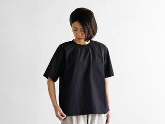 タイプライタークロス半袖リブプルオーバ(ブラック)【ユニセックス】610の画像