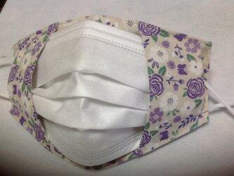 ✳︎超オススメ✳︎不織布マスクが見えるマスクカバー✳︎紫の画像