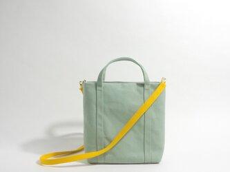 2way 配色 ミニサイズ・帆布 トートバッグ アーモンドグリーンの画像