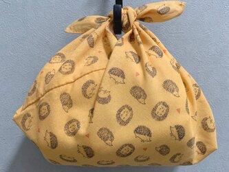 手縫いのあずま袋【ハリネズミオレンジ】の画像