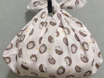 手縫いのあずま袋【ハリネズミホワイト】の画像