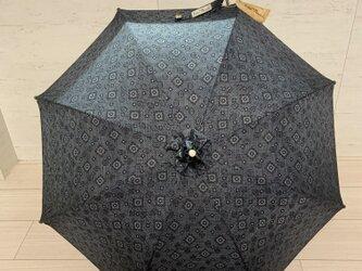 大島紬の日傘 菫の画像