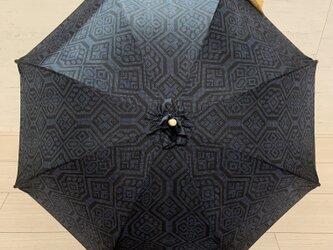 大島紬の日傘 藜の画像