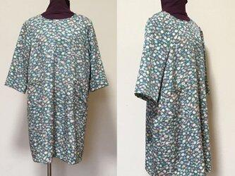 着物リメイク  チュニック C  ワンピース  シルク   古布正絹の画像