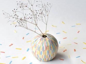 Confetti small vase  紙吹雪の花器の画像