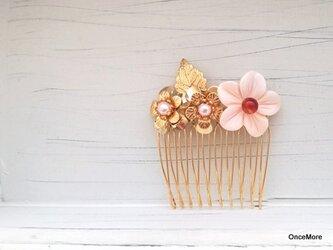 【現品限り】お花のヘアコームの画像