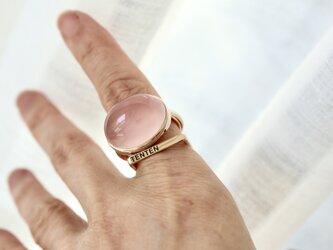K10[朝露のpink rose] ringの画像