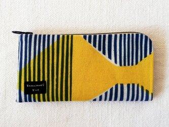 型染め 長財布「リボンストライプ」の画像