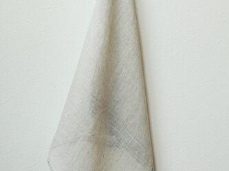 手織り・草木染め リネンプチスカーフ ナチュラルの画像
