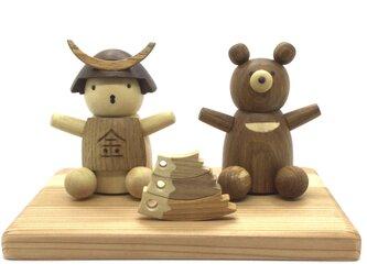 金太郎さんと熊さんと鯉(受注制作)の画像