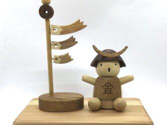 金太郎さんと鯉のぼり(受注制作)の画像