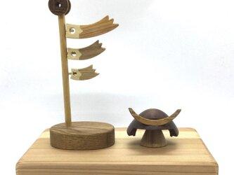 兜と鯉のぼり(受注制作)の画像