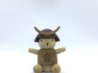 兜をかぶった金太郎さん(受注制作)の画像