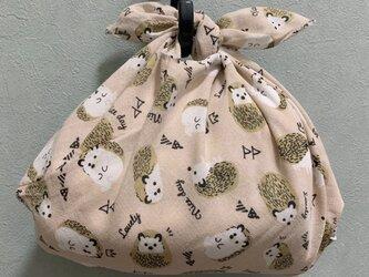 手縫いのあずま袋【ハリネズミピンク】の画像