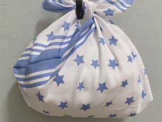 手縫いのあずま袋【星柄】の画像