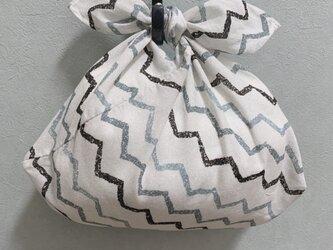 手縫いのあずま袋【ギザギザ】の画像
