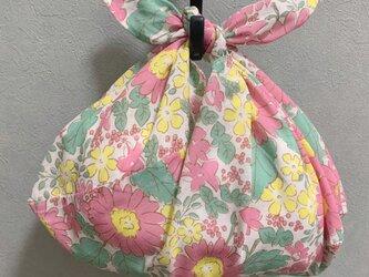 手縫いのあずま袋【フラワー】の画像