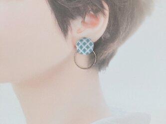 イヤリング〈かちゃらず×色①〜③〉1.8cmの画像