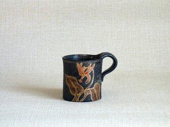 四方マグカップ(金彩赤絵かたくり)の画像