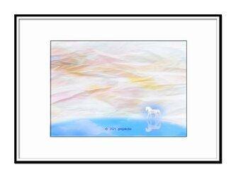 「慈母であり厳父でもある自然を師として」 ほっこり癒しのイラストA4サイズポスター No.774の画像