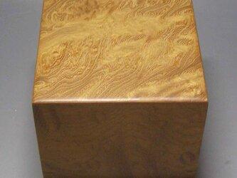 欅玉杢 上杢 駒箱 木地磨き仕上げの画像