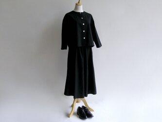 久留米紬織のツーピース(黒)【送料無料】の画像