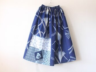 ☆浴衣ミディロングスカート☆パッチワーク&レース♪/31ys97の画像