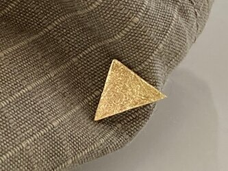 小さな三角形◇真鍮鍛金ピンズ/タイタックの画像