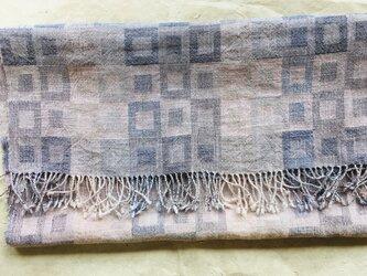 リネン単糸・ウール・シルク混ストールの画像