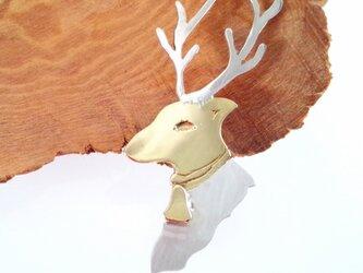 トナカイ Rein Deer ブローチ2 SV/Brassの画像