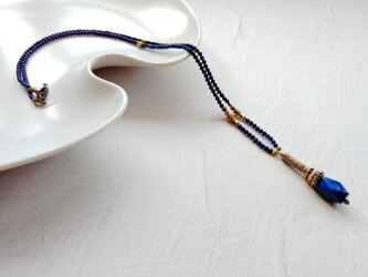 ラピスラズリのアンティーク風ネックレスの画像