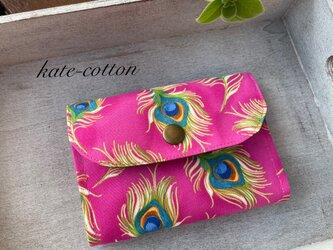 ■お買い得!ミニ財布⭐︎ロラライ・ハリス⭐︎孔雀の羽根・ピンクの画像