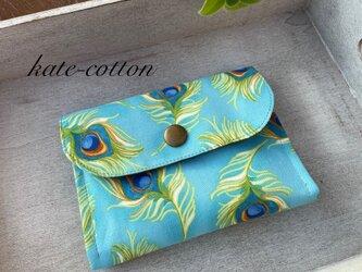 ■ミニ財布⭐︎ロラライ・ハリス⭐︎孔雀の羽根・ブルーの画像