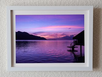 No.4 朝焼け(TAHITI,Bora Bora)の画像