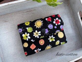 ■ミニ財布⭐︎ロラライ・ハリス⭐︎ブラック・USAコットンの画像