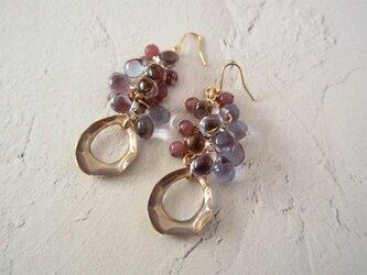 金具変更OK Pierces or Earrings レピドライト チェコ(P0967)の画像