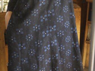 久留米絣2種のワンピースの画像
