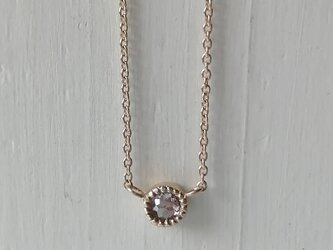 ローズカットピンクダイヤモンドプチネックレスの画像