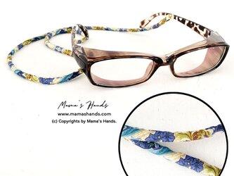リバティ シルク 花柄 ナチュラル サングラス 老眼 メガネ ホルダー ストラップの画像